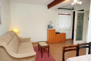 Dramalj, Obývací pokoj v ubytování typu apartment, domácí mazlíčci povoleni a WiFi.