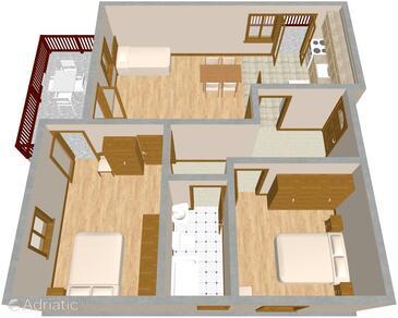 Vrboska, Plan in the apartment, WIFI.