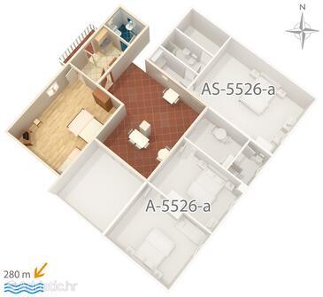 Novi Vinodolski, План в размещении типа apartment, WiFi.