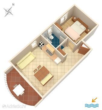 Zavala, План в размещении типа apartment, Домашние животные допускаются и WiFi.