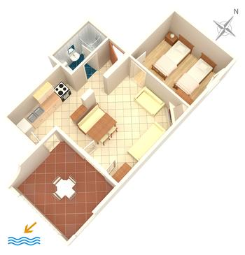 Zavala, Načrt v nastanitvi vrste apartment, Hišni ljubljenčki dovoljeni in WiFi.
