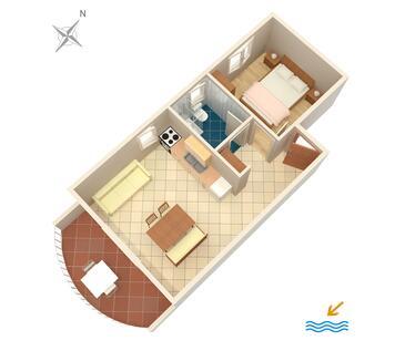 Zavala, Proiect în unitate de cazare tip apartment, animale de companie sunt acceptate şi WiFi.