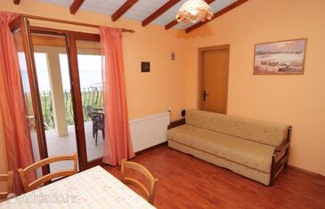 Klenovica, Living room in the apartment, WIFI.