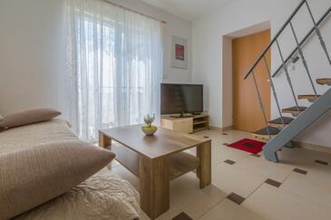 Dramalj, Obývací pokoj v ubytování typu apartment, WiFi.
