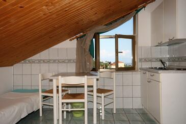 Crikvenica, Dining room in the studio-apartment, dopusteni kucni ljubimci i WIFI.