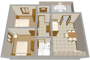 Tri Žala, План в размещении типа apartment, WiFi.
