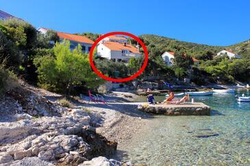 Tri Žala, Korčula, Objekt 556 - Apartmani blizu mora sa šljunčanom plažom.