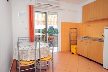 Senj, Dining room in the apartment, dostupna klima i WIFI.