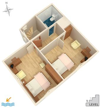 Senj, Plan kwatery w zakwaterowaniu typu apartment, WIFI.