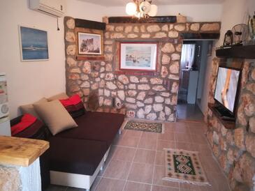 Senj, Pokój dzienny w zakwaterowaniu typu apartment, Dostępna klimatyzacja i WiFi.