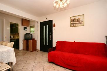 Selce, Obývací pokoj v ubytování typu apartment, s klimatizací a WiFi.