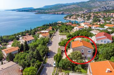 Klenovica, Novi Vinodolski, Property 5575 - Apartments near sea with pebble beach.