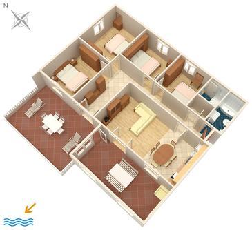 Tri Žala, Plan dans l'hébergement en type apartment, WiFi.