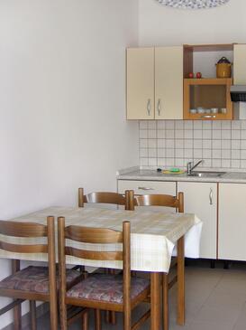 Klenovica, Jedáleň v ubytovacej jednotke apartment, domáci miláčikovia povolení a WiFi.