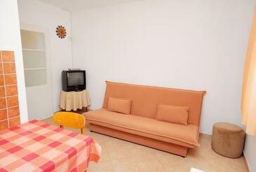 Novi Vinodolski, Obývací pokoj v ubytování typu apartment, s klimatizací a WiFi.