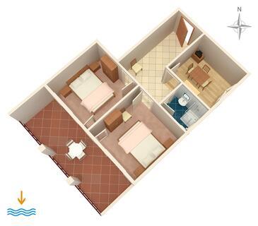 Novi Vinodolski, Plan in the apartment.