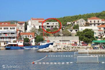 Sumartin, Brač, Объект 5615 - Апартаменты вблизи моря с галечным пляжем.