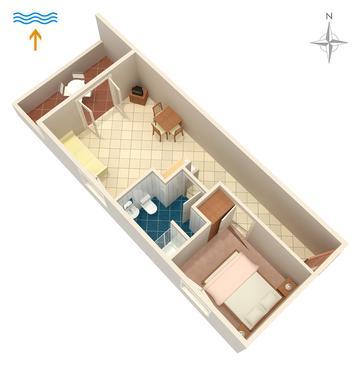 Postira, Plan in the apartment, dopusteni kucni ljubimci i WIFI.