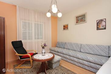 Postira, Гостиная в размещении типа apartment, WiFi.