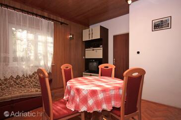 Supetar, Dining room in the apartment, dostupna klima i dopusteni kucni ljubimci.