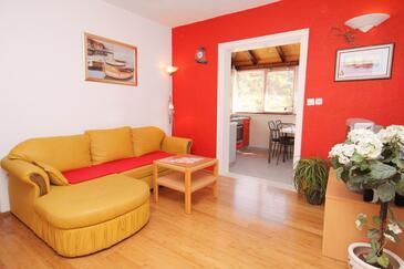 Postira, Pokój dzienny 1 w zakwaterowaniu typu house, dostupna klima, dopusteni kucni ljubimci i WIFI.