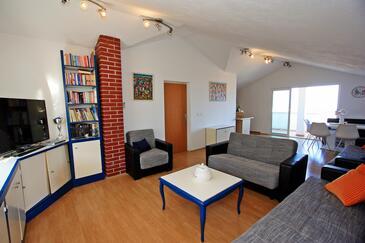 Supetar, Гостиная в размещении типа apartment, доступный кондиционер, Домашние животные допускаются и WiFi.