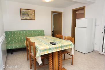 Splitska, Dining room in the apartment, dopusteni kucni ljubimci i WIFI.