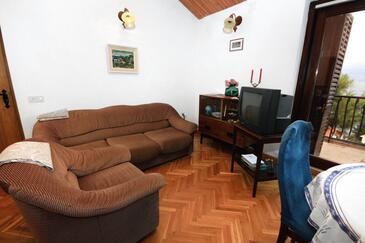 Splitska, Obývacia izba v ubytovacej jednotke apartment, dopusteni kucni ljubimci i WIFI.