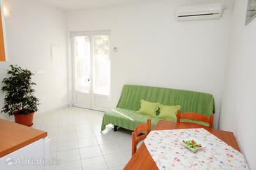 Hvar, Living room in the apartment, dostupna klima, dopusteni kucni ljubimci i WIFI.