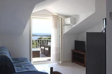 Hvar, Living room in the apartment, air condition available.