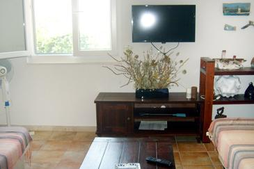 Mudri Dolac, Living room in the apartment, air condition available, (pet friendly) and WiFi.