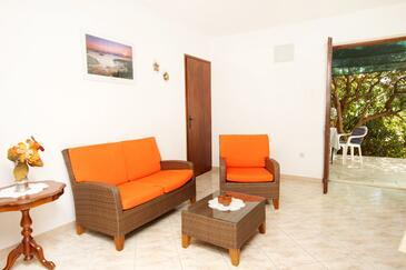 Basina, Obývací pokoj v ubytování typu apartment, dopusteni kucni ljubimci.