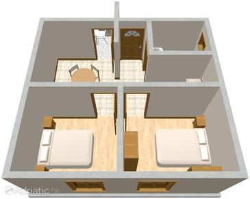 Žrnovska Banja, Plan in the apartment.