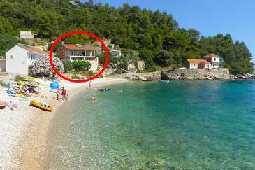 Skozanje, Hvar, Objekt 5713 - Ubytovanie blízko mora s kamienkovou plážou.