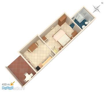 Stari Grad, Grundriss in folgender Unterkunftsart apartment, WiFi.