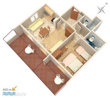 Stari Grad, Plan kwatery w zakwaterowaniu typu apartment, WiFi.