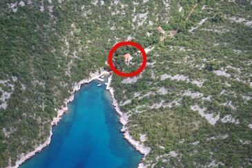 Tatinja, Hvar, Obiekt 5729 - Apartamenty przy morzu ze żwirową plażą.
