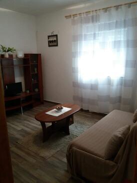 Turanj, Pokój dzienny w zakwaterowaniu typu apartment, dopusteni kucni ljubimci i WIFI.
