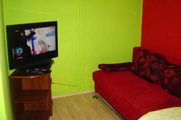Privlaka, Living room in the apartment, dopusteni kucni ljubimci.