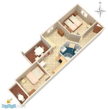 Torac, Načrt v nastanitvi vrste apartment, WiFi.