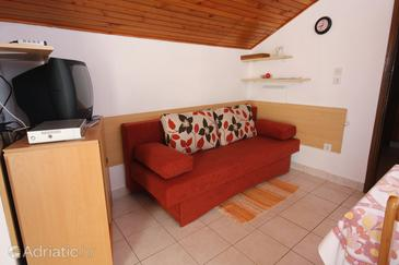 Bibinje, Living room in the apartment.