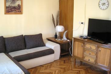 Bibinje, Living room in the apartment, (pet friendly) and WiFi.