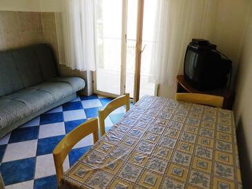 Vrsi - Mulo, Obývací pokoj v ubytování typu apartment, domácí mazlíčci povoleni a WiFi.