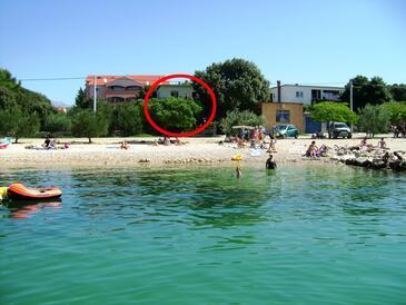 Vrsi - Mulo, Zadar, Objekt 5790 - Ubytování v blízkosti moře s oblázkovou pláží.