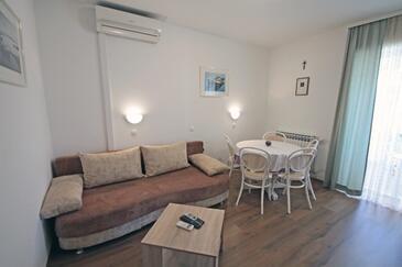 Vinjerac, Гостиная в размещении типа apartment, доступный кондиционер, Домашние животные допускаются и WiFi.