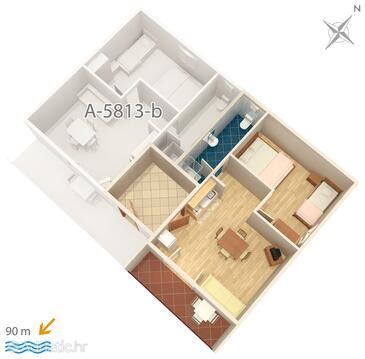 Privlaka, Plan in the apartment, WIFI.