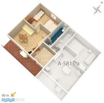 Privlaka, План в размещении типа apartment, WiFi.