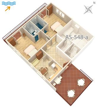 Jelsa, Plan in the apartment, dopusteni kucni ljubimci i WIFI.