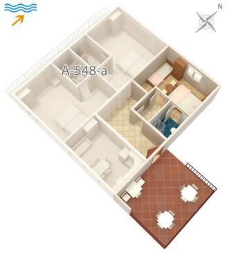 Jelsa, Plan kwatery w zakwaterowaniu typu studio-apartment, dopusteni kucni ljubimci i WIFI.