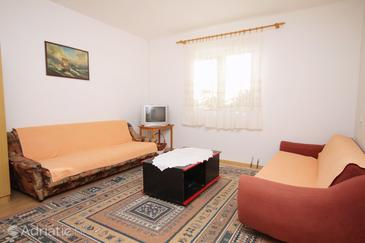 Tkon, Living room in the apartment, air condition available.